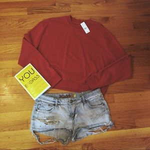 LA Hearts Crop Sweater